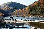 Lone Kayaks Challenge the Youghiogheny at Ohiopyle in Autumn Picture Thumbnail