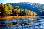 Youghiogheny River Rounding the Flats at Evening Picture Thumbnail