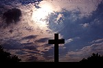 The Great Cross of Jumonville Silhouetted Picture Thumbnail