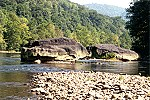 Several Large Rocks in the Youghiogheny River Picture Thumbnail