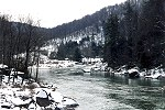 A Wintry Youghiogheny River in Ohiopyle State Park Picture Thumbnail