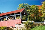 Angled View of the Barronvale Covered Bridge Picture Thumbnail