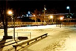 A Cold Wintry Night at Connellsville�s Yough River Park Picture Thumbnail