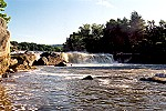 A Distant Morning View of the Ohiopyle Falls Picture Thumbnail