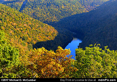 Cheat River from Coopers Rock Overlook