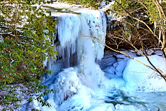 Cucumber Falls Ice Formation in January