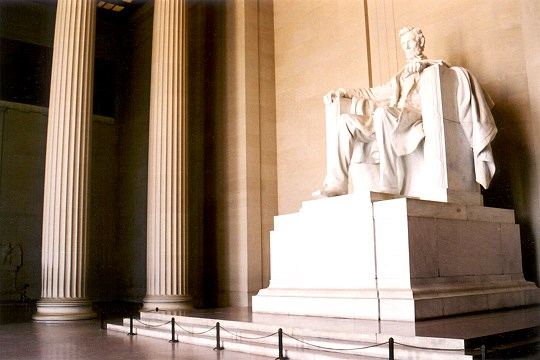Abraham Lincoln's Statue in the Lincoln Memorial Picture