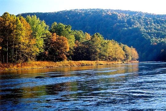 Youghiogheny River Rounding The Flats At Evening Picture