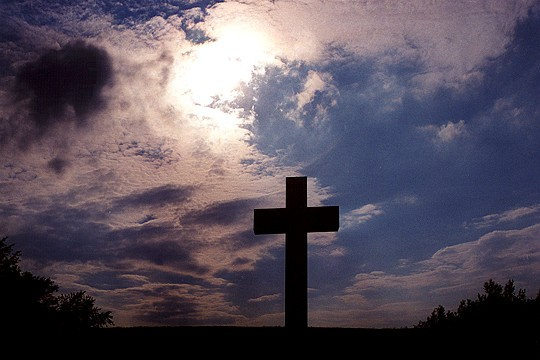 The Great Cross of Jumonville Silhouetted Picture
