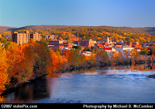 Autumn Evening View of Connellsville, PA's Downtown Picture