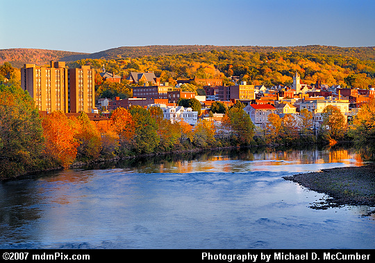 Golden Light Cast Against Connellsville, PA's Downtown Picture