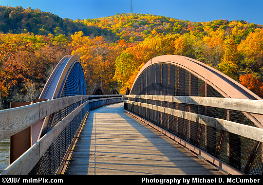 An Arched Youghiogheny River Trail Bridge at Ohiopyle Picture