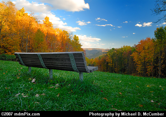Kentuck Overlook's Bench and Late Evening View Picture