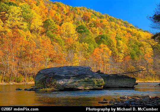 Two Giant Rocks in the Youghiogheny River Picture