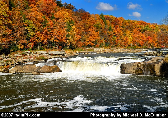 Falls of Ohiopyle Back Dropped in Autumn Glory Picture