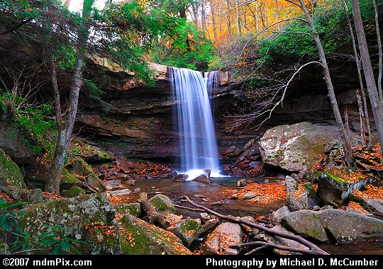 An Autumn Evening at Ohiopyle's Cucumber Falls Picture