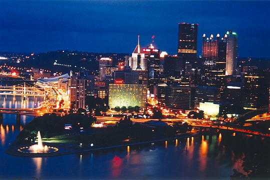 Pittsburgh's Golden Triangle Just After Sunset Picture
