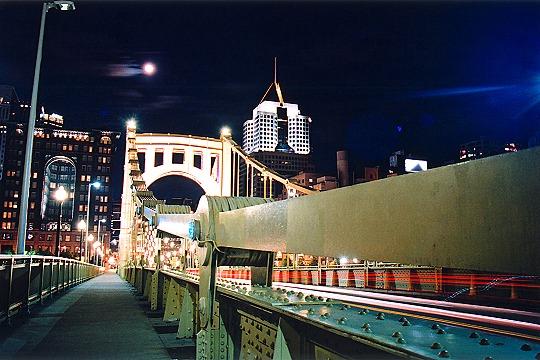 A Night Walk Across the Roberto Clemente Bridge Picture