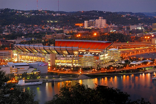 Mount Washington's Evening View of Heinz Field Picture