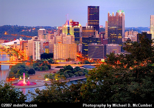 Pittsburgh's Golden Triangle Before Night Falls Picture