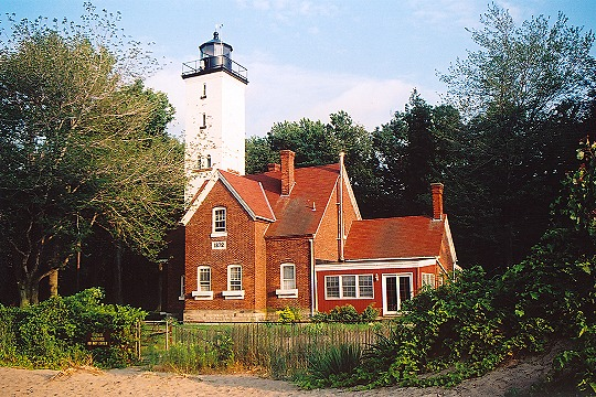 Presque Isle Lighthouse Along Lake Erie's Shore Picture
