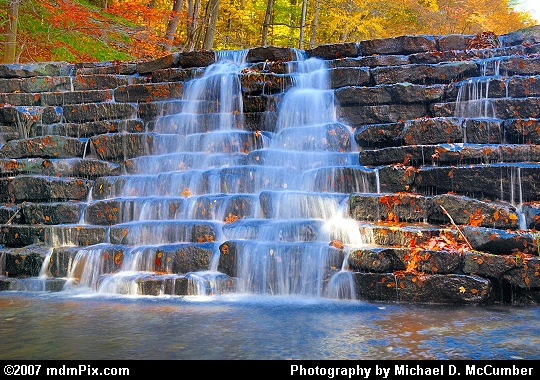 Water Flowing Over Picturesque Jones Mill Run Dam Picture