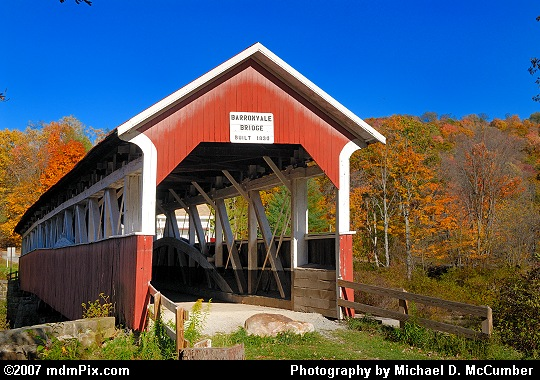 A Front Shot of Barronvale Covered Bridge Picture