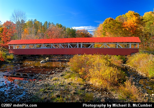 A Side Profile of Barronvale Covered Bridge Picture