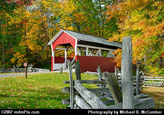 Side Angled View of Walter's Mill Covered Bridge Picture