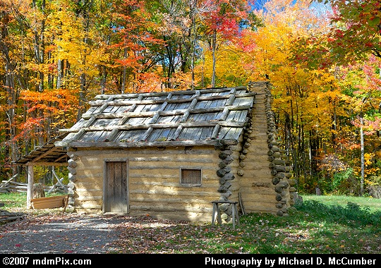 A Closer View of a 1700s Pioneer Cabin Picture