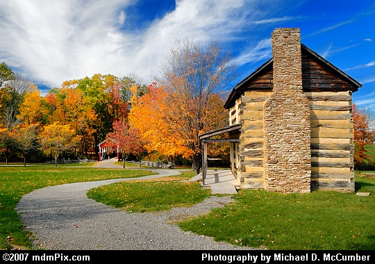 Looking Past the Adam Miller Farmhouse toward Walter's Mill Covered Bridge Picture
