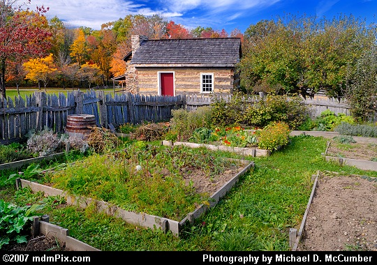 18th Century Homestead Kitchen Palisade Surrounded Garden Picture